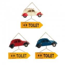 Cartel decorativo para puertas lavabos coche .