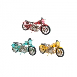 Moto decoracion metal vintage retro .