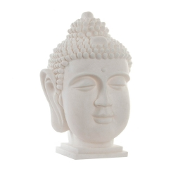 lampara cabeza de buda resina de piedra 28x28x41 cm .
