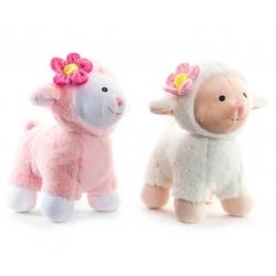 Peluche ovejas pareja rosa y blanca . 23cm -cada uno .
