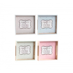 Bandejas vaciabolsillos madera color pastel frase a gusto .