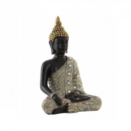 Figuritas buda resina cromado sentado .