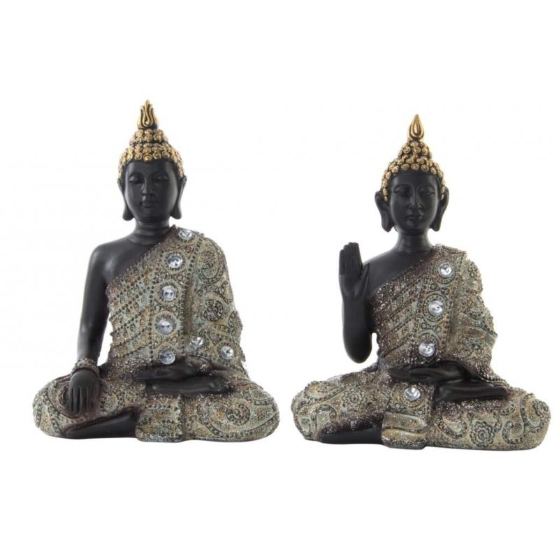 Figuras buda resina envejecido sentado dcasa - Figuras buda decoracion ...