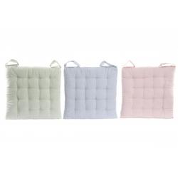 Cojines silla 100% algodon colores pastel .