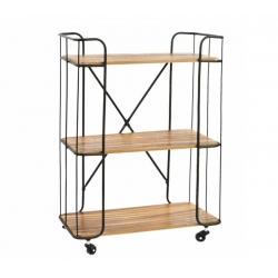 Estantería industrial metal madera 62x30x86 cm .