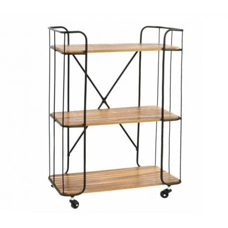 Estantería industrial metal madera 62x30x86 cm .| Dcasa.es