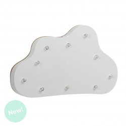 Nube con leds madera decorativa .