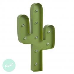 Mural metal cactus con 9 leds decorativa .