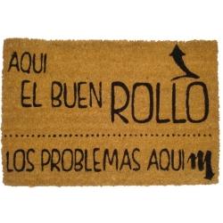 Felpudo con Diseño Buen Rollo de Coco, 60 x 40 cm