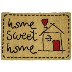 Felpudo Sweet Home de coco, 60 x 40 cm