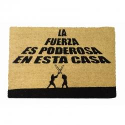 Felpudo con Diseño la Fuerza Es Poderosa, PVC, Coco, 60 x 40 cm