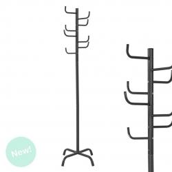 Perchero de pie negro diseño cactus 175 cm .