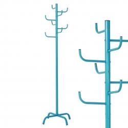 Perchero de pie azul diseño cactus 175 cm .