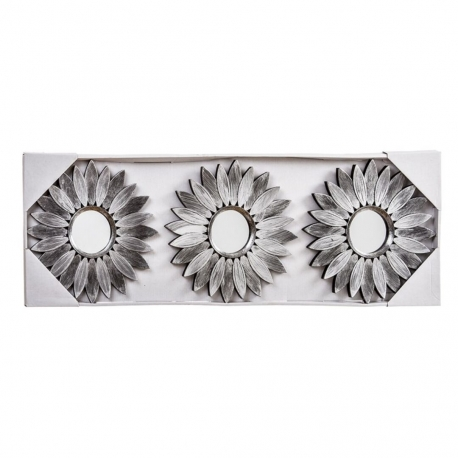 Espejos de pared rabes plata para sal n de 25 cm arabia for Espejo pared plata