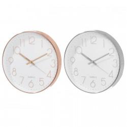Reloj 2/c polipropileno 30,50 x 30,50 x 4,30 cm cobre y plata.
