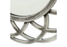 Espejo circular plata polipropileno 40 x 2 x 40 cm
