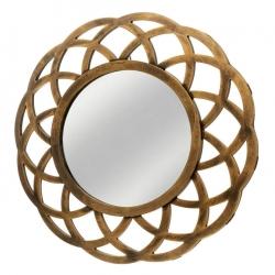 Espejo circular oro polipropileno 40 x 2 x 40 cm