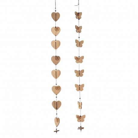 Colgantes decorativo madera 5 x 0,50 x 100 cm