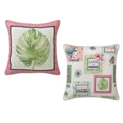 Cojines originales étnicos rosas de algodón / poliéster para decoración.