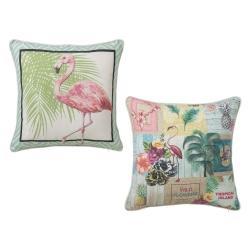 Cojínes original étnico rosa de algodón / poliéster para salón Iris