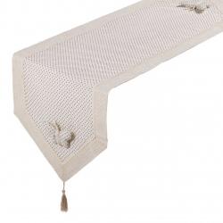"Camino mesa ""mariposa"" beige 150 x 45 cm"
