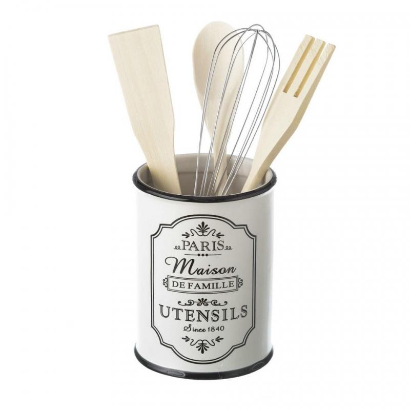 porta utensilios paris stoneware 10 50 x 10 50 x 14 cm On porta utensilios de cocina