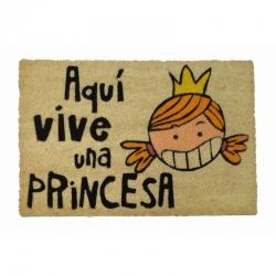 Felpudo Aquí Vive Una Princesa 60 x 40 cm