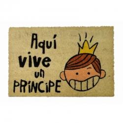Felpudo Aquí Vive Un Príncipe, 60 x 40 cm