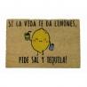 Felpudo original Sal y Tequila 40x60 cm .