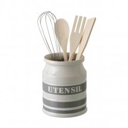 "Porta utensilios ""urban"" ""stoneware"" 10,50 x 10,50 x 14 cm"
