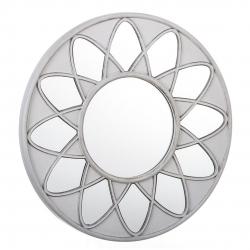Espejo circular plata cannes 40 x 2 x 40 cm