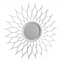 Espejo de pared blanco 50 cm .- nahuel