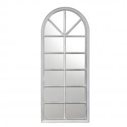 Espejo de pared en forma de ventana blanco decorado