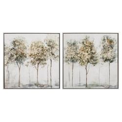 Cuadros impresión arboles verde 63x60 cm - pack 2 cuadro .