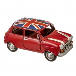 Coche metal decorativo mini GB 24 cm .