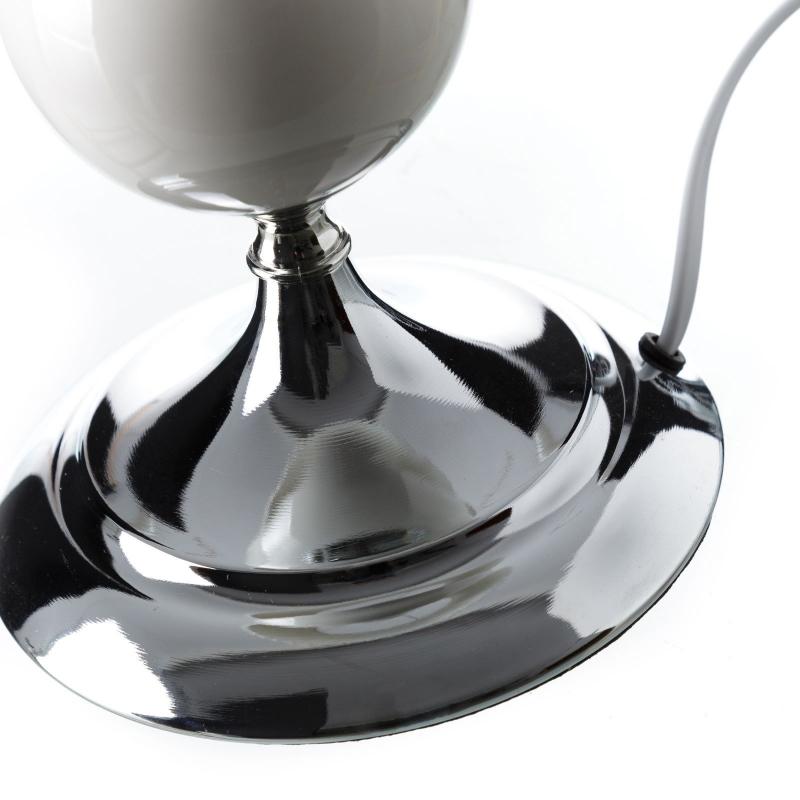 L mpara de mesa rabe blanca de metal para sal n arabia - Lamparas mesa salon ...