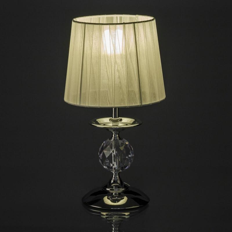 L mpara para mesita de noche moderna plateada de metal - Lamparas modernas para dormitorio ...