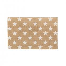 Alfombra blanco-beige estrellas algodón 90 x 60 cm