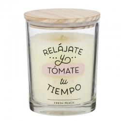 """Vela aromatica """"RELÁJATE"""" duracion 70 HORAS"""