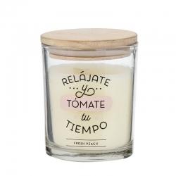 """Vela aromatica """"RELÁJATE"""" duracion 30 HORAS"""