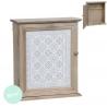 Caja para llaves blanco de madera decorada nordica .