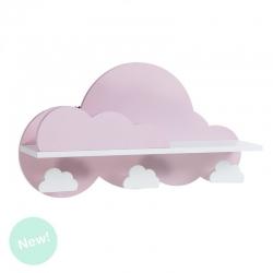 Estanteria / perchero infantil rosa nube .