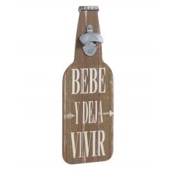 """Abridor forma botella """" Bebe y Deja Vivir """""""