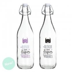Botellas de agua con diseño super heroes ( Pack 2 botellas )