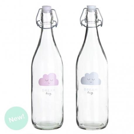 Botellas de agua con diseño nubes infantil ( Pack 2 botellas )