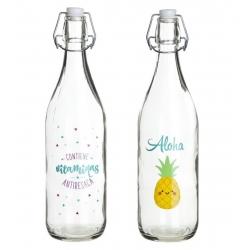 Botellas de agua con diseño aloha ( Pack 2 botellas )