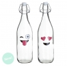 Botellas de agua con diseño emotis ( Pack 2 botellas )