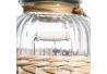 Bote con cesta romántico beige de cristal para cocina France