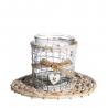 Portacubiertos sobremesa románticos beige cristal para comedor France