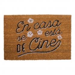 Felpudo original con frases en Casa se Esta De Cine 40X60 cm